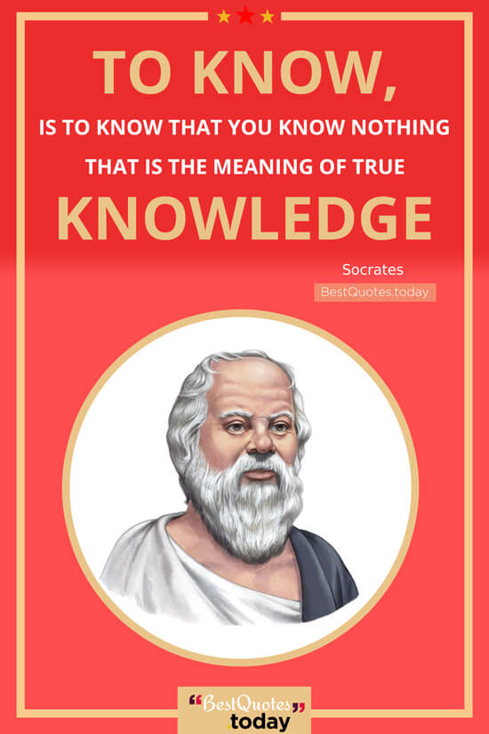 Knowledge Quote by Socrates