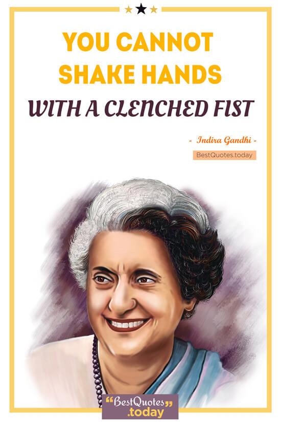 Relationship Quote by Indira Gandhi