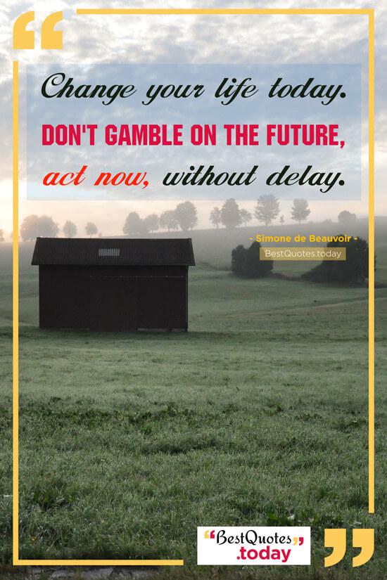 Inspirational Quote by Simone de Beauvoir