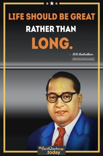 Life & Inspirational Quote by BR Ambedkar