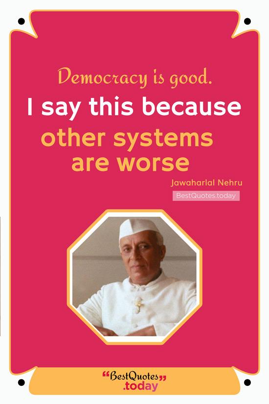 Motivational Quote by Jawaharlal Nehru