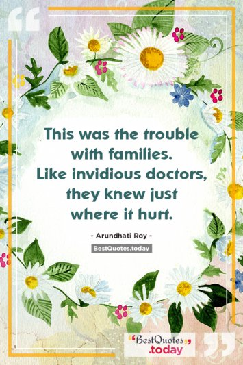 Family Quote by Arundhati Roy