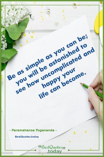 Life & Happiness Quote by Paramahansa Yogananda